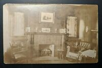 1911 San Diego California Clermont Ohio Living Room Real Picture Postcard Cover