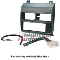 GM Truck Car Stereo Radio Dash Installation Mounting Trim Panel Bezel Kit Blue