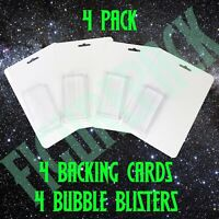 4 Pack DIY Bootleg Action Figure Blister Bubble & Blank Backing Cards Packaging
