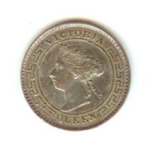 Queen Victoria Ceylon 10 Cents 1893, silver coin