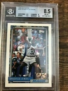 Shaquille O'Neal 1992-93 Topps Rookie Card - RC#362 - BGS 8.5 NM/MT+ Certificati