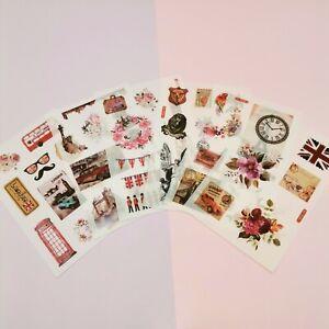 London Sticker Pack, Travel Stickers, Washi Paper Stickers, Landmark Stickers