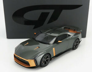 2018 NISSAN GT-R50 BY ITALDESIGN GRAY MET & GOLD 1:18 SCALE BY GT SPIRIT GT300