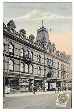 Harvey Institute & Free Library, Barnsley PPC Unposted from Milton w Shopfronts