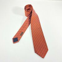 Hermes Paris 100% Silk Neck Tie, Etrier au Carre tie, Made in France 659240T
