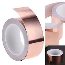 50mmX 20m EMI Copper Foil Shielding Tape Single Conductive Self Adhesive Barrier