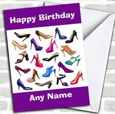 Girls Shoe Fetish Fan Birthday Customised Card
