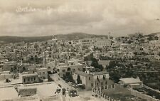 BETHLEHEM PALESTINE GENERAL VIEW ISRAEL ANTIQUE REAL PHOTO POSTCARD RPPC
