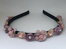 Stunning Jewelled Baby Pink Embellished Headband, Hairband, Alice Band