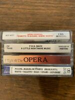 Opera Cassettes Lot of 4