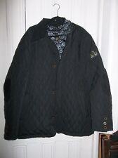 Super Bowl 50 Men's Size 2XL Black Quilted Coat w/ Snap/Zip Liner NICE!