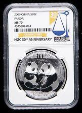NGC MS70 2009 Silver Panda Coin 1oz Regular Coin
