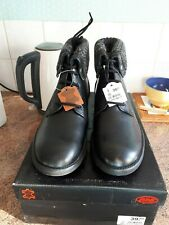 MENS BLACK LACE-UP CASUAL BOOTS SIZE 8 new