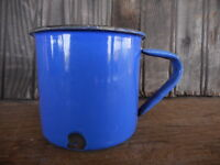 Vintage Small Blue Enamel Cup Camping Coffee Japan
