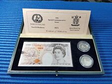 1992 UK Special Commemorative Issue New £10 Banknote & Silver Proof 10p Coin Set