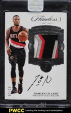 2016 Flawless Damian Lillard 3 COLOR PATCH AUTO /20 #DP-DL