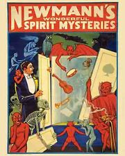 Vintage Antique Rare POSTER  1920's   NEWMANN   Magic Show Magician Circus Freak
