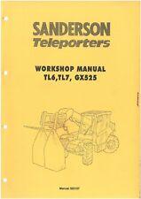 Sanderson TL6 & TL7 & GX525 télescopique Workshop Service Repair Manual