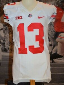2014 Ohio State Game Used Worn White Jersey Eli Apple #13