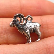 925 Sterling Silver Vintage Ram/Goat/Ares Zodiac Sign Charm Pendant