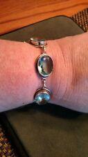 Huge Sterling Blue Topaz Bracelet