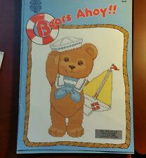 """""""BEARS AHOY - (8) DESIGNS""""-CHARTED LEAFLET 30 - BY GLORIA & PAT"""