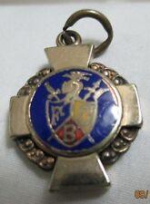 Vintage Knights of Pythias Enamel FCB Crest Cross Watch Fob Charm