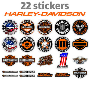 22 Harley-Davidson aufkleber stickers emblem Helm Motorrad
