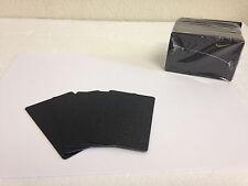50 x CR80 .30 Mil Graphic Quality Black PVC Credit Card ID PRINTER Sealed