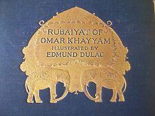 Rubaiyat of Omar Khayyam Illustrated By Edmund Dulac Edward Fitzgerald 1st edit