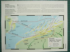 WW2 WWII MAP ~ DUNKIRK OPERATION DYNAMO 27 MAY - JUNE 1940 BRITISH SEA ROUTES