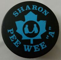 SHARON PEE WEE A VINTAGE OFFICIAL HOCKEY PUCK VICEROY MFG. RARE made in CANADA