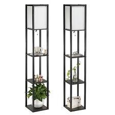 Set of 2 Mid-Century Standing Column Floor Lamps 100W 3...