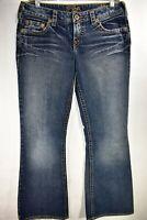 Silver Jeans Aiko Bootcut Womens Medium Wash Tag 30x31 Stretch Meas. 31x30.5