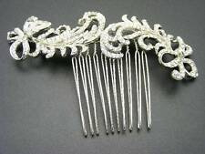 $175 Nina Bridal Hair Comb *Caleigh* Swarovski Crystals Feathers & Bows Design