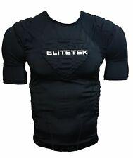 EliteTek Padded Compression Shirt - Cps14 - Black - Adult Small