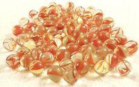 Antique Vintage Marbles  Cats Eye  Transparent red Swirls Speckled lot