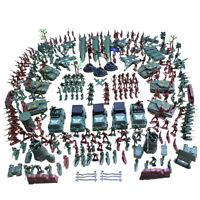 307pcs WWII Military Playset Toy 4cm Soldier Army Men Figures Accessories
