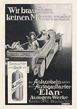 Elan Autogen Werke Berlin Autogasstarter Beleuchtung Damen Plakat  Motor A3 422