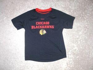CHICAGO BLACKHAWKS hockey Reebok athletic shirt Kids 5-6