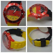 EM, WM Silikon Armband Uhr Deutschland Uhr in den Nationalfarben
