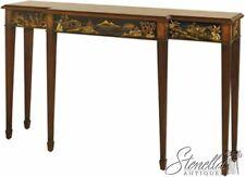 L46333: MAITLAND SMITH #8127-34 Chinoiserie dec. Mahogany Console Table ~ New