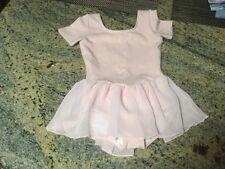 Girls Bloch Dance/ Ballet/ Leotard With Attached Shirt Size 6x/7 Light Pink
