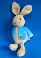 "10"" PETER RABBIT bunny baby comforter soft toy BEATRIX POTTER 🌈 Rainbow design"