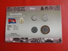 * Cambogia/Cambodia KMS blister/* 50 - 500 RIELS * 4 monete (alb 8)