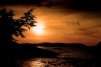 Long Beach sunset Tofino Vancouver Island Canada photograph picture poster print