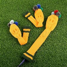 3 Pieces Golf Club Knitted Headcover Covers For Titleist Taylormade NO. 1 3 5