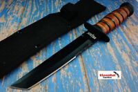 "12"" USMC Tactical Hunting Survival Fixed Blade Tanto Hunting Knife MILITARY USMC"
