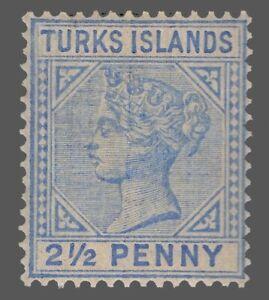 Turks Islands Sc. #52 21/2p MNH   Queen Victoria 1893
