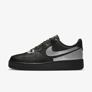 Nike Air Force 1 '07 LV8 3M Shoes Sneakers Black/Silver CT2299-001 US 7-12